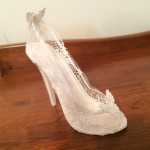 Edible lace heel