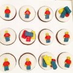 modelling chocolate Lego cupcakes